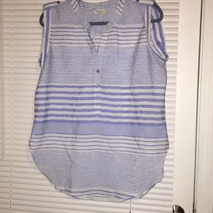 Light and airy blue striped tank top